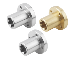 Splined hubs with flange similar to DIN ISO 14