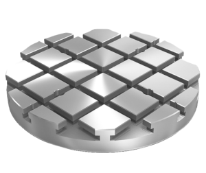 Baseplates, grey cast iron, round, with T-slots