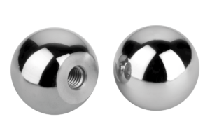 Ball knobs stainless steel or aluminium DIN 319 Form C with thread