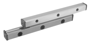 Guide rails with cross rollers