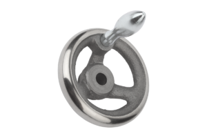 Handwheels DIN 950, grey cast iron, with fixed grip