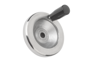 Handwheels disc, aluminium, with revolving cylinder grip
