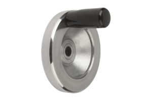 Handwheels disc, aluminium, with fixed cylinder grip
