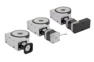 Positioning stages rotary with coaxial electric drive