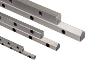 Guide rails Teflon-coated