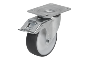 SWIVEL CASTOR WITH STOP-FIX LOCKING SYS